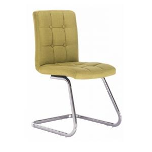 Dizajnová stolička, zelená látka, LAVINIA