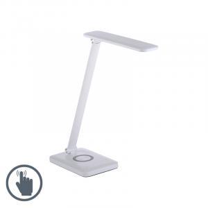 Dizajnová stolná lampa biela vrátane LED s dotykovým stmievačom - Tina