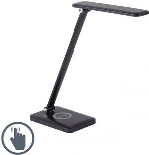 Dizajnová stolná lampa čierna vrátane LED s dotykovým stmievačom - Tina