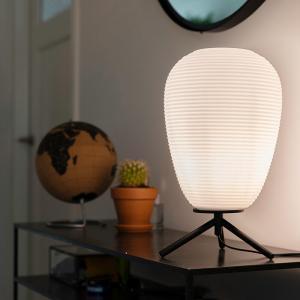 Dizajnová stolná lampa čierne sklo 24 cm s opálovým sklom - Hero