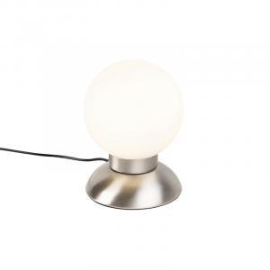 Dizajnová stolová lampa oceľová stmievateľná vrátane LED - Majestic