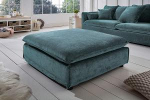 Dizajnová taburetka Eden 110 cm petrol zelená / zamat