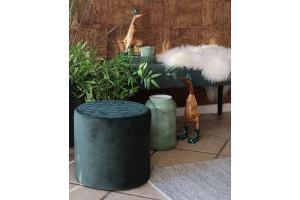 Dizajnová taburetka Kiera zelený zamat