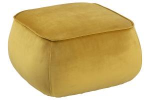 Dizajnová taburetka Nara, žltá kocka