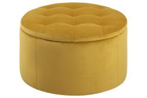 Dizajnová taburetka Nasima, žltá