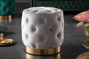 Dizajnová taburetka Rococo 37 cm sivá