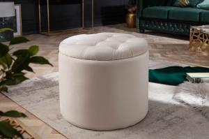 Dizajnová taburetka Rococo 50 cm béžová