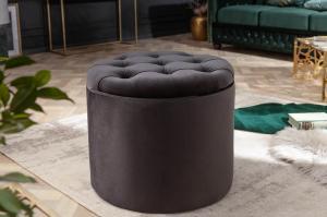 Dizajnová taburetka Rococo 50 cm čierna
