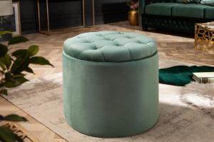 Dizajnová taburetka Rococo 50 cm mätová
