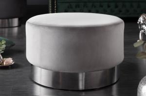 Dizajnová taburetka Rococo 55 cm sivá