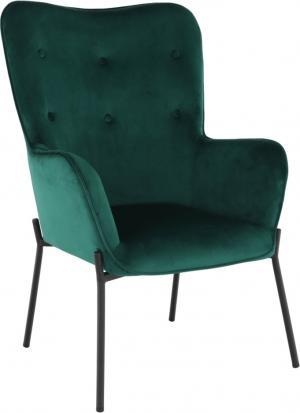 Dizajnové kreslo, smaragdová Velvet látka, SURIL