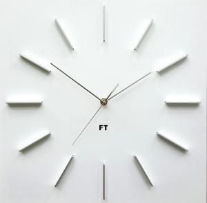 Dizajnové nástenné hodiny Future Time FT1010WH Square white 40cm