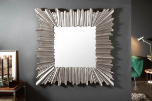 Dizajnové nástenné zrkadlo Kathleen 96 cm strieborné