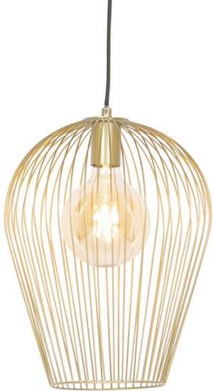 Dizajnové závesné svietidlo zlaté - Wire Ario