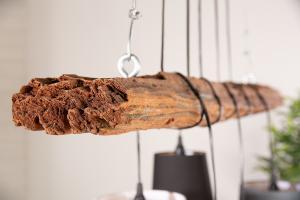 Dizajnový drevený rám Shadow 115 cm naplavené drevo