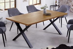Dizajnový jedálenský stôl Giuliana X 160 cm dub