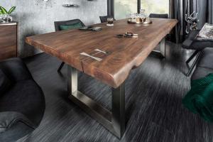 Dizajnový jedálenský stôl Massive Artwork, 200 cm, akácia