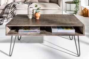 Dizajnový konferenčný stolík Felix 100 cm, sivé mango
