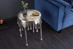 Dizajnový konferenčný stolík Gwendolyn 51 cm strieborný