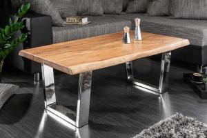 Dizajnový konferenčný stolík Massive, 110 cm, akácia