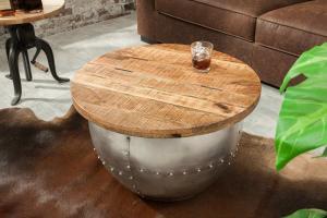 Dizajnový konferenčný stolík Maurice, prírodný