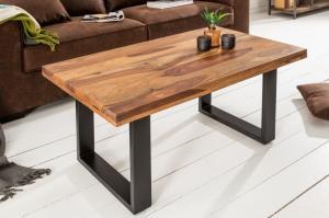 Dizajnový konferenčný stolík Thunder 100 cm sheesham