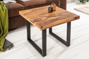 Dizajnový konferenčný stolík Thunder 60 cm sheesham