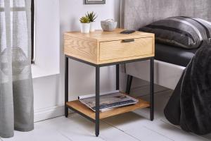 Dizajnový nočný stolík Factor 40 cm dub