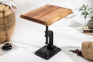 Dizajnový odkladací stolík Unity, 43 cm, akácia