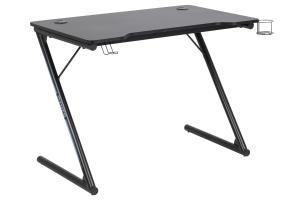 Dizajnový písací stôl Naretha 100 cm, čierny