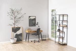 Dizajnový písací stôl Nature 110 cm, divoký dub