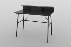 Dizajnový písací stôl Nava 100 cm, čierny