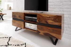 Dizajnový TV stolík Argentinas 160 cm sheesham