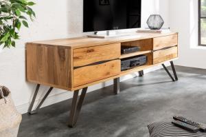 Dizajnový TV stolík Fringe, 160 cm, divý dub