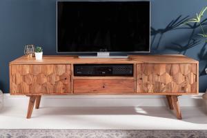 Dizajnový TV stolík Justice, 140 cm, akácia