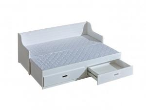 DL Rozkladacia posteľ Mosko 200x80 Farba: Biela