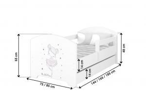DO Detská posteľ Ballerina Rozmer: 180x80