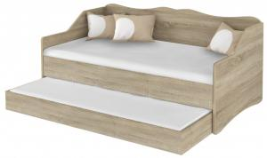 DO Detská posteľ Lulu s prístelkou 160x80 - dub sonoma