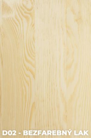 DOK Regál z masívu Malmo Povrchová úprava:: D02 - Bezfarebný lak