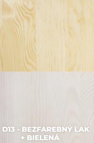 DOK Regál z masívu Malmo Povrchová úprava:: D13 - Bezfarebný lak + Bielená