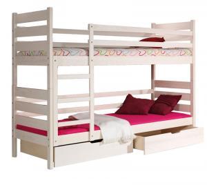 DOLMAR Detská poschodová posteľ DAREK FARBA: Biela