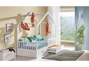 DOLMAR Detská posteľ WIKTOR FARBA: Biela