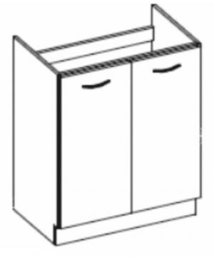 Dolná kuchynská skrinka pod drez Pleitton 80 ZL 2F BB