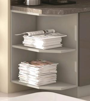 Dolný rohový kuchynský regál Karmen 30D, 30 cm, šedý