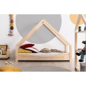 Domčeková detská posteľ z borovicového dreva Adeko Loca Elin, 80 x 160 cm