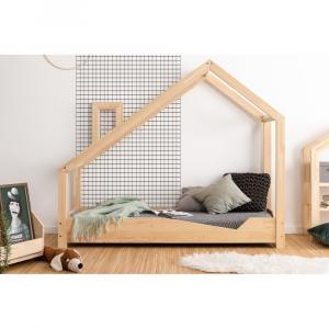 Domčeková posteľ z borovicového dreva Adeko Luna Adra, 90 x 160 cm