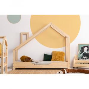Domčeková posteľ z borovicového dreva Adeko Luna Bek,90x200cm