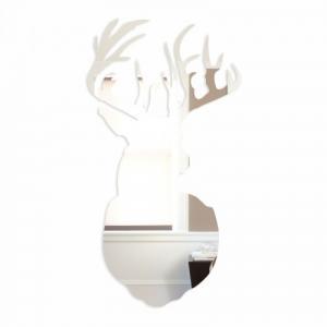 DomTextilu Akrylové zrkadlo v tvare jeleňa 8431