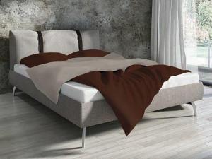 DomTextilu Bavlnené obojstranné posteľné obliečky čokoládovej farby 3 časti: 1ks 200x220 + 2ks 70 cmx80 Hnedá 32109-162145