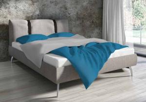 DomTextilu Bavlnené obojstranné posteľné obliečky tyrkysovej farby 3 časti: 1ks 160 cmx200 + 2ks 70 cmx80 Tyrkysová 32107-162140